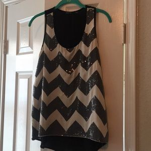 Ark & Co. Sequin Chevron Tank